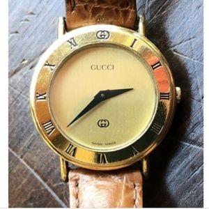 GUCCI 3000L Womens Quartz Gold Plated Watch